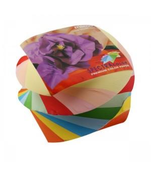 Бумага для заметок 9*9*7 спир Spectra Color 10цв 650л скл №296/90rot