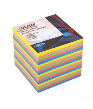 Бумага для заметок 9*9*9 куб 5цв неон 870л 20 слоев deVENTE 2012704 не скл
