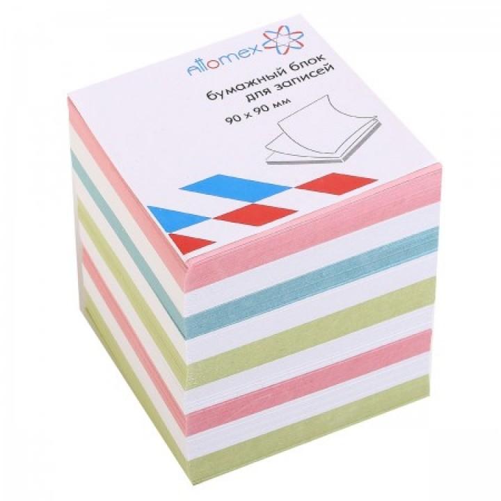Бумага для заметок 9*9*9 куб цв Attomex 2012634 не скл