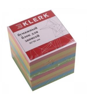 Бумага для заметок 9*9*9 куб 5цв 183607 КЛЕРК не скл