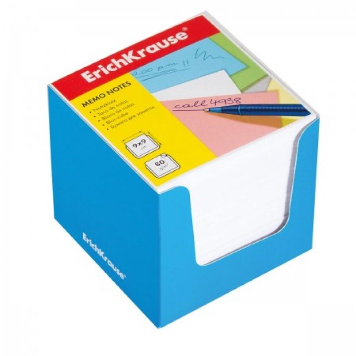 Бумага для заметок 9*9*9 куб бел ЕК 37008 син карт подст