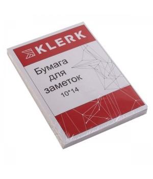 Бумага для заметок 10*14 100л бел офсет 80гр 183610 КЛЕРК
