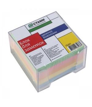 Бумага для заметок 8*8*5 куб цв прозр подст ПЦ01