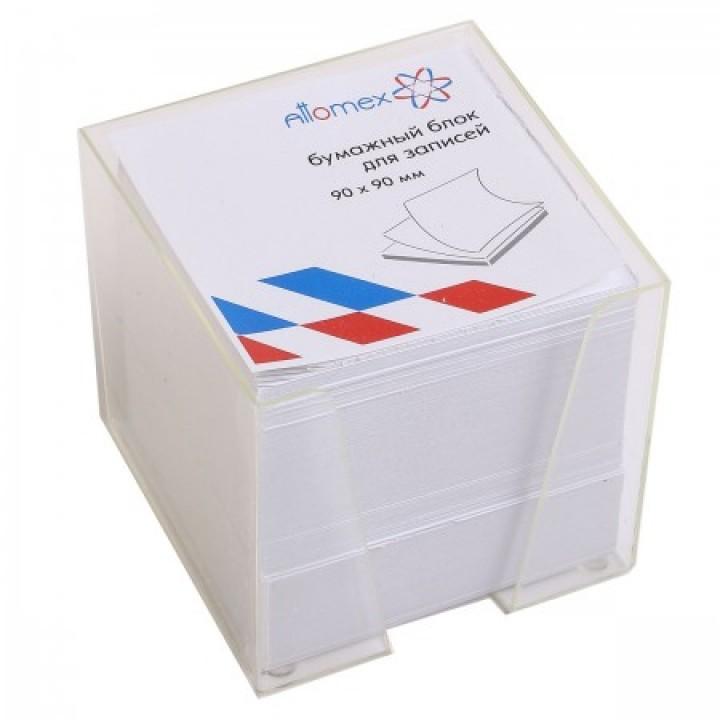 Бумага для заметок 9*9*9 куб газет пласт подст Attomex Эконом 2013612