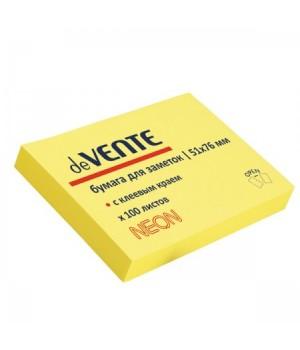 Бумага для заметок самокл 50*75 100л deVENTE 2010312 неон желт