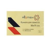 Бумага для заметок самокл 50*75 100л Attomex 2010301 желт