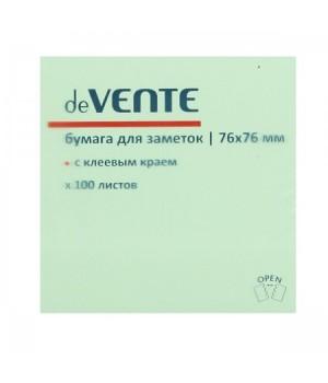 Бумага для заметок самокл 76*76 100л deVENTE 2010326 зел