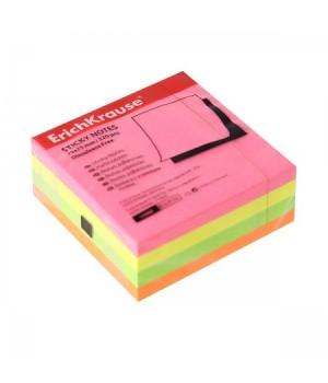 Бумага для заметок самокл 75*75 320л ЕК34968 ассорти