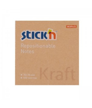 Бумага для заметок самокл 76*76 100л 21639 Kraft Notes 381489