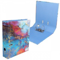 Регистратор А4, ширина корешка 75мм, ламинированный картон Blue Marble Blue deVENTE 3091909