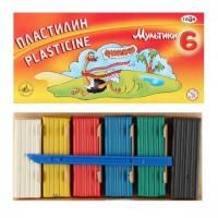 Пластилин 6 цветов 120гр Гамма Мультики со стеком картонная коробка 280015/281015