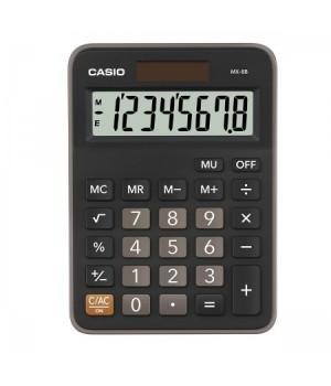 Калькулятор Casio (8 разр) MX-8B-BK-W-EC 147*106*29 черн