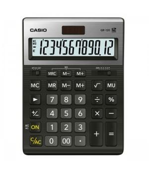 Калькулятор Casio (12 разр) GR-120-W-EP 210*155*30мм черн
