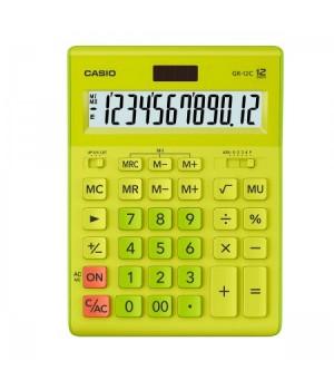 Калькулятор Casio (12 разр) GR-12C-GN-W-EP 210*155*30мм зел
