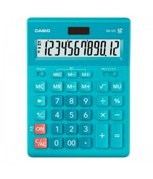 Калькулятор Casio (12 разр) GR-12C-LB-W-EP 210*155*30мм гол