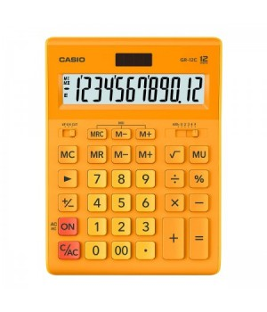 Калькулятор Casio (12 разр) GR-12C-RG-W-EP 210*155*30мм оранж