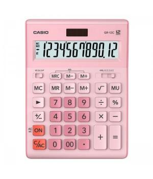 Калькулятор Casio (12 разр) GR-12C-PK-W-EP 210*155*30мм роз