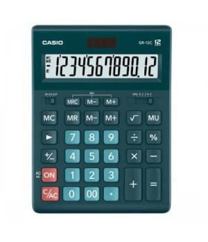 Калькулятор Casio (12 разр) GR-12C-DG-W-EP 210*155*30мм темн зел