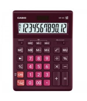 Калькулятор Casio (12 разр) GR-12C-WR-W-EP 210*155*30мм красн