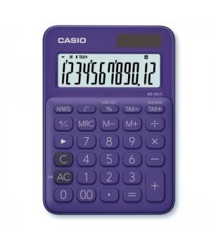 Калькулятор Casio (12 разр) MS-20UC-PL-S-EC 150*105*23мм фиол