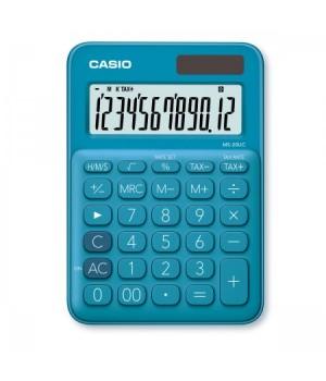 Калькулятор Casio (12 разр) MS-20UC-BU-S-EC 150*105*23мм син