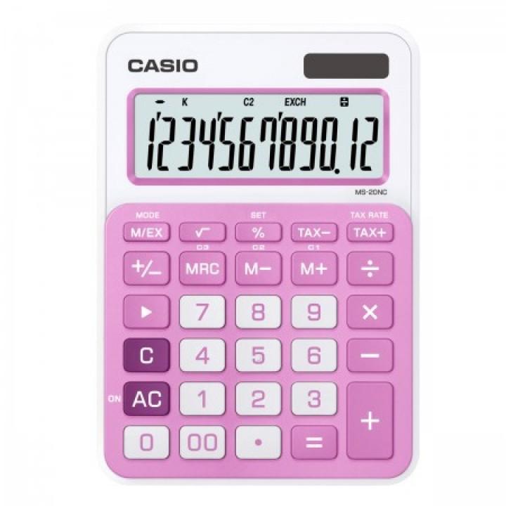 Калькулятор Casio (12 разр) MS-20NC-PК-S-EC 149*105*22мм роз