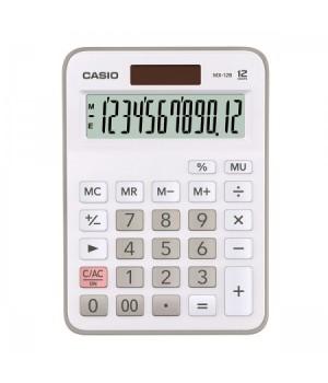 Калькулятор Casio (12 разр) MX-12B-WE-W-EC 147*106*29мм бел