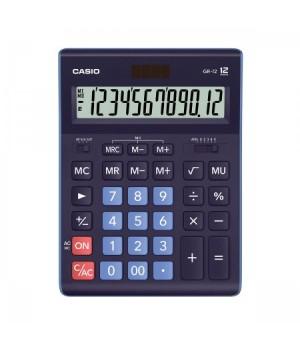 Калькулятор Casio (12 разр) GR-12BU-W-EP 209*155*35мм син