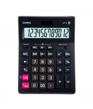 Калькулятор Casio (12 разр) GR-12-W-EP 209*155*35мм черн