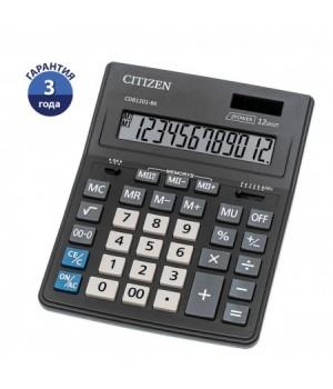 Калькулятор настольный 12 разрядов Citizen BusinessLine CDB 1201 BK двойное питание 205*155*35мм черный