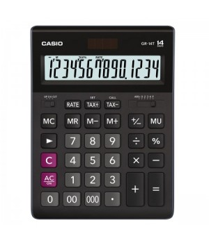 Калькулятор Casio (14 разр) GR-14Т-W-EP 209*155*35мм черн