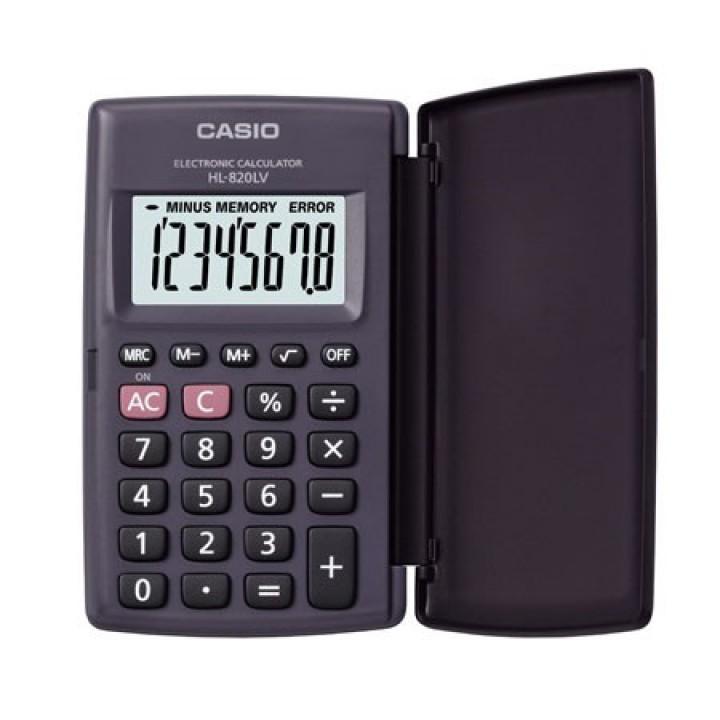 Калькулятор карм Casio (8 разр) HL-820LV-BK-S-GP 105*65*8мм черн