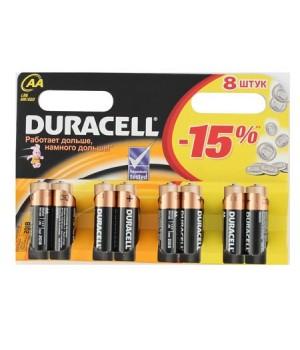Батарейка Duracell LR06 BASIC/NEW BL-8
