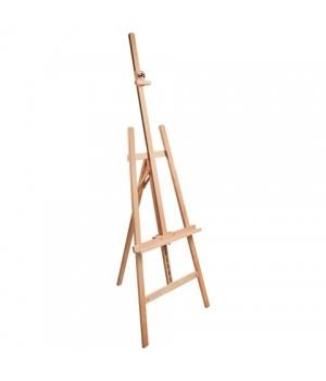 Мольберт напольный BRAUBERG, бук, угол 60°, размер 63×174(231)х68 см, высота холста 126 см