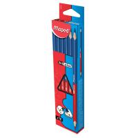BICOLOR Двухцветный карандаш синий/красный, ударопрочный грифель, треугольный, 12 штук