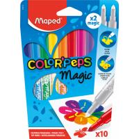 COLOR'PEPS MAGIC Фломастеры меняющие свой цвет, 10 цветов в коробке
