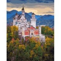 Баварский замок Раскраска картина по номерам на холсте PK49026