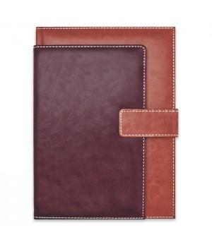 Ежедневник-органайзер полудатированный, формат А4, 192 л., твёрдый переплёт с поролоном, блинтовое тиснение