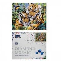 Мозаика алмазная 40*50см част выклад Тигриное семейство М-10271 с подрамн