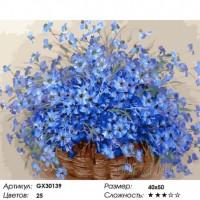 Васильки Раскраска картина по номерам на холсте GX30139