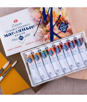 Набор масляных красок Мастер-Класс 12 цветов по 18 мл в тубах