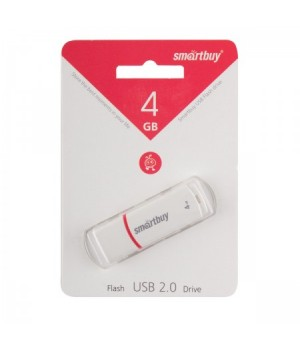 Флеш-память USB 4 Gb Smartbuy Crown White (SB4GBCRW-W)