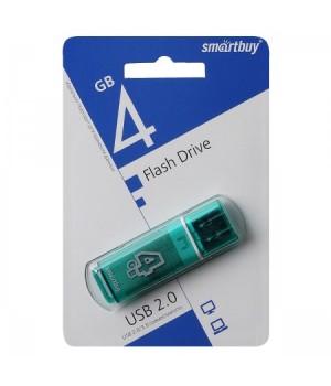 Флеш-память USB 4 Gb Smartbuy Glossy series Green