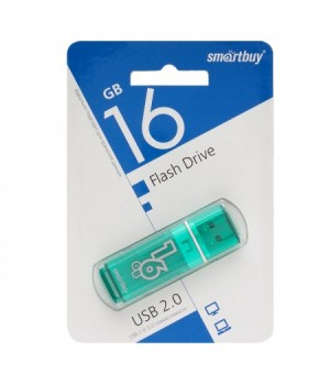 Флеш-память USB 16 Gb Smartbuy Glossy series Green
