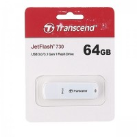 Флеш-память USB 64 Gb Transcend JetFlash 730 3.0 White