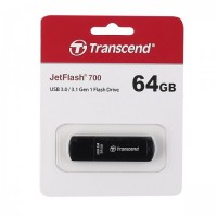 Флеш-память USB 64 Gb Transcend JetFlash 700 3.0 Black