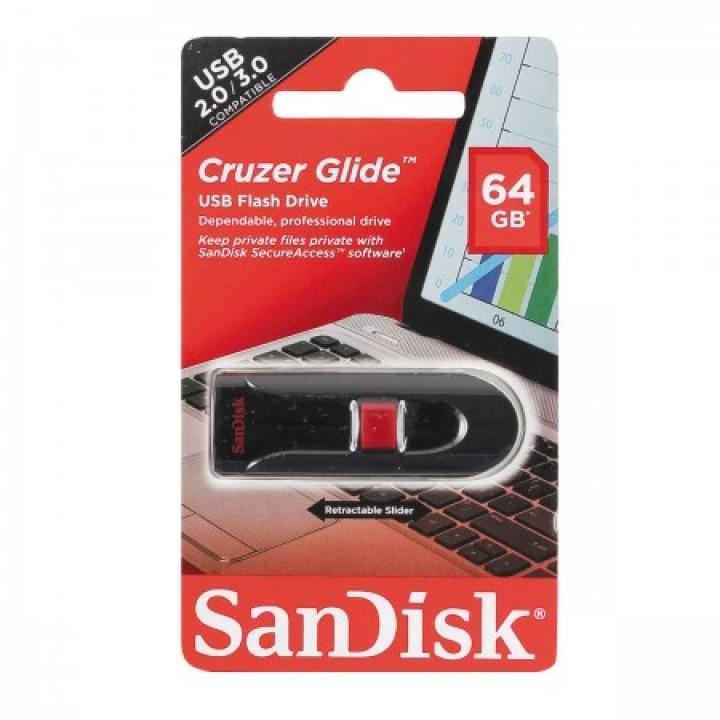 Флеш-память USB 64 Gb SanDisk CZ60 Cruzer Glide USB 3.0