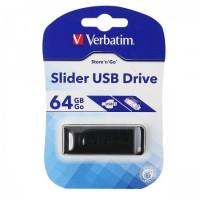 Флеш-память USB 64 Gb Verbatim USB 2.0 Slider, черный