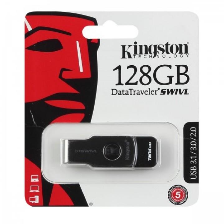 Флеш-память USB 128 Gb Kingston DT SWIVL Metal/color USB 3.1