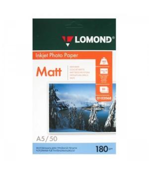 Фотобумага Lomond 180/А5/21*14,8/50 мат.одн. 0102068